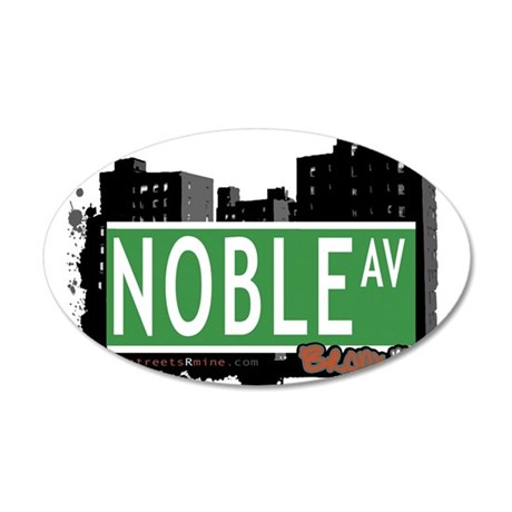 Noble Ave 20x12 Oval Wall Decal