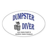 Dumpster Diver Oval Decal
