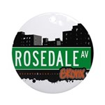Rosedale Ave Ornament (Round)