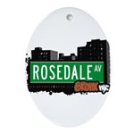 Rosedale Ave Ornament (Oval)