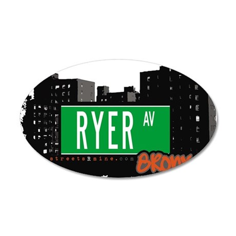 RYER AV 35x21 Oval Wall Decal