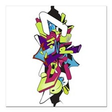 "Graffiti King Square Car Magnet 3"" x 3"""