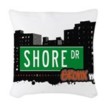Shore Dr Woven Throw Pillow