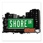 Shore Dr Square Car Magnet 3