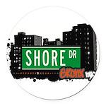 Shore Dr Round Car Magnet