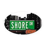 Shore Dr Oval Car Magnet