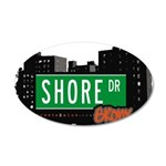 Shore Dr 35x21 Oval Wall Decal