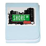 Shore Dr baby blanket