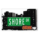 Shore Dr Sticker (Rectangle 50 pk)