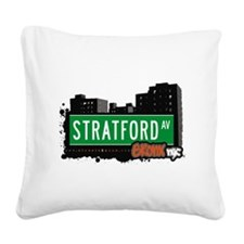 Stratford Ave Square Canvas Pillow