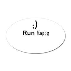 Run Happy Running Wall Decal