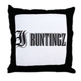 Runtingz Throw Pillow