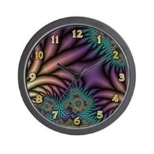 Peacock Fractal Wall Clock