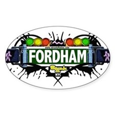 Fordham Bronx NYC (White) Decal