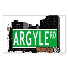 Argyle road, Brooklyn, NYC Decal