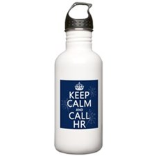 Keep Calm and Call H.R. Sports Water Bottle