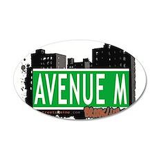 Avenue M, Brooklyn, NYC 20x12 Oval Wall Decal