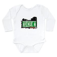 Avenue M, Brooklyn, NYC Long Sleeve Infant Bodysui
