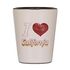 I Love California (Vintage) Shot Glass