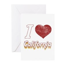 I Love California (Vintage) Greeting Cards (Pk of