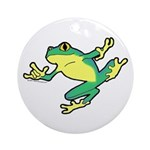 ASL Frog in Flight Ornament (Round)