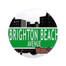 "Brighton Beach avenue, BROOKLYN, NYC 3.5"" Button"