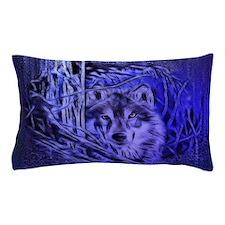 Night Warrior Wolf Pillow Case