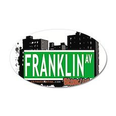 FRANKLIN AV, BROOKLYN, NYC 35x21 Oval Wall Decal