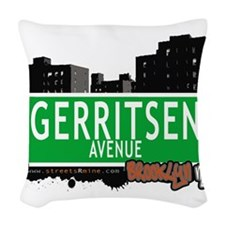 GERRITSEN AVENUE, BROOKLYN, NYC Woven Throw Pillow