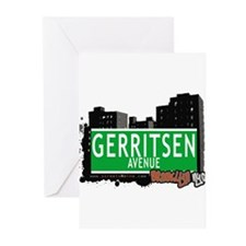 GERRITSEN AVENUE, BROOKLYN, NYC Greeting Cards (Pk