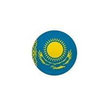 Kazakhstani Flag Mini Button