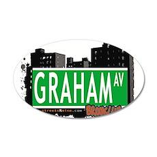 GRAHAM AV, BROOKLYN, NYC 35x21 Oval Wall Decal