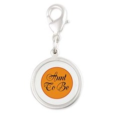 Aunt To Be Silver Round Charm