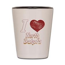 I Love North Dakota (Vintage) Shot Glass