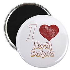 I Love North Dakota (Vintage) Magnet