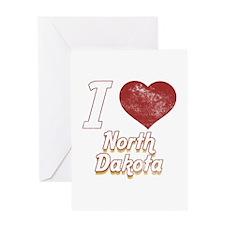 I Love North Dakota (Vintage) Greeting Card