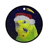 Christmas Night Yellow Budgie Christmas Ornament