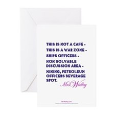"""Mrs Walley """"War Zone"""" Greeting Cards (Pk of 10)"""