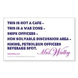 Mrs Walley &quot;War Zone&quot; Rectangle Decal