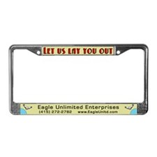 Eagle Unlimited Promo License Plate Frame