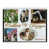 Rough Collies Art Wall Calendar