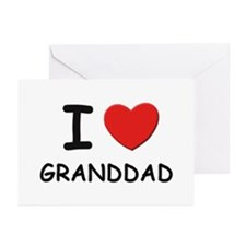 I love granddad Greeting Cards (Pk of 10)