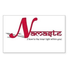 NAMASTE Rectangle Decal