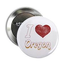 """I Love Oregon (Vintage) 2.25"""" Button (10 pack)"""
