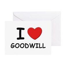 I love goodwill Greeting Cards (Pk of 10)