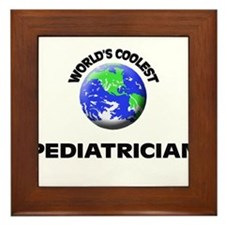 World's Coolest Pediatrician Framed Tile