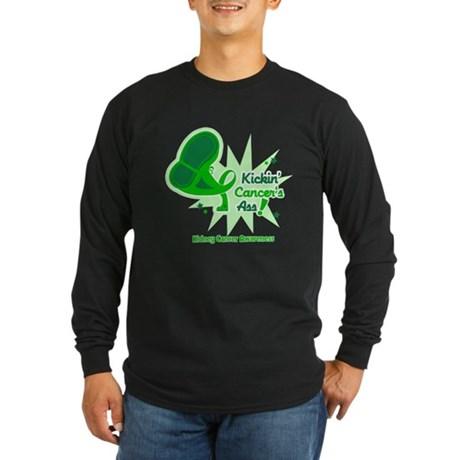 Kickin Kidney Cancer Long Sleeve Dark T-Shirt