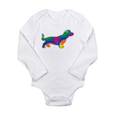 A Doxie Going in Circles Body Suit