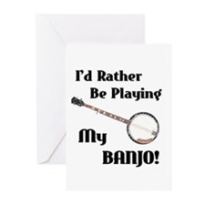 Playing My Banjo Greeting Cards (Pk of 10)