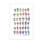 Pastel Fingerspelled Mini Poster Print